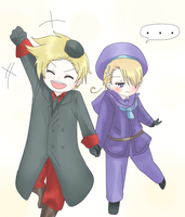 Hetalia - denmark and norway by Mi-chan4649
