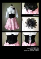 Gingham Pleat Skirt and Waspie by Ruffandtumble