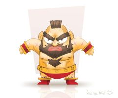 Chibi Zangief by hanzthebox