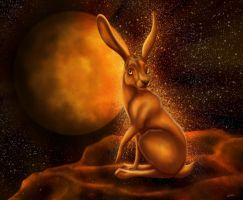 Lepus - God of Mercury by Golphee
