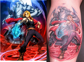 FMA Tatoo of Ed and Al by 2barquack