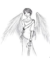 Angelic -lineart- by kage-no-tenshi