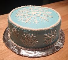 Snowflake Cake by Crosseyed-Cupcake