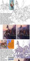 Amazons painting (making of part one) by alexichabane