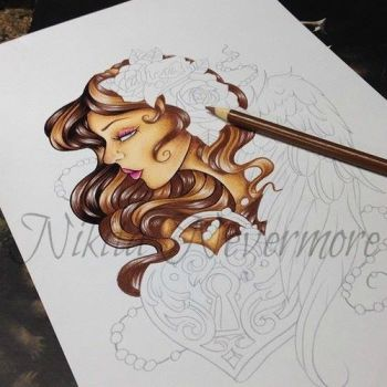 in progress drawing by Nevermore-Ink