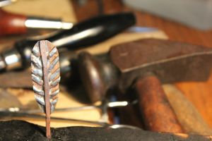 Copper Brass Feather by connerchristopher