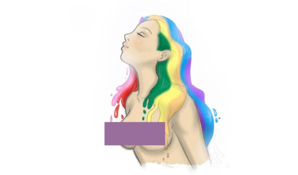 Rainbow Haired Beauty by Kitsunie
