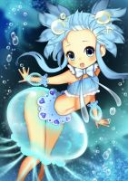 jelly fish girl by VeggieStudio