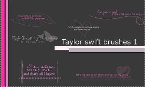 Taylor swift 1 brushes by soule088