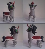 King Sombra sculpture multiple views by RetardedDogProductns