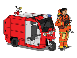 Thai Fire Tuk Tuk by VachalenXEON