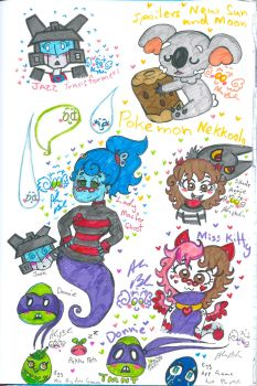 Colourful scribbles 2 by Kittychan2005
