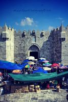 Damascus Gate Jerusalem by nasahkalam