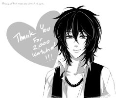 Thank you so much for 2,000 watchers ! by PrinceOfRedroses