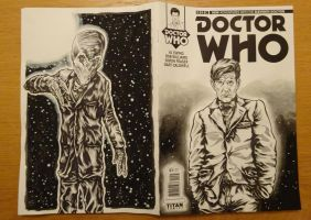 Eleventh Doctor Front and Back by PAULSWAIN