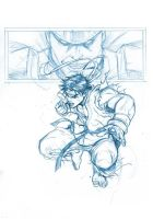 RYU VS BISON SKETCH by deemonproductions