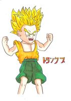 Kid Trunks going ssj for first time by kenny-powders