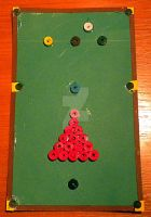 Quilled Snooker Table (vintage style) by YoyoTheMadScientist