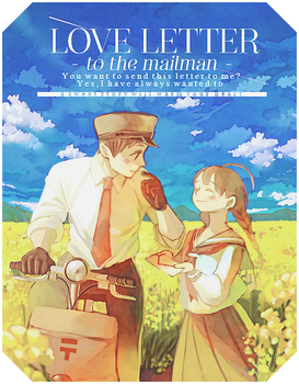 [ Book cover ] Love Letter to the mailman by Fris-chan