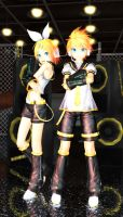 Kagamine Rin and Len by Ginshi by virsuz