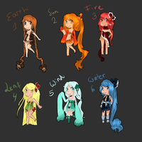 Elemental chibi adopts (Auction) - OPEN by Nelliette