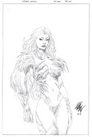 Witchblade pencil commish by ericalannelson