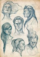Sketchdump (Heads) by SAM---tan