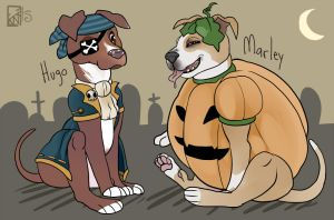 Halloween Pups by Kinla