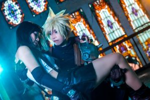 Cloud and Tifa by Echow88