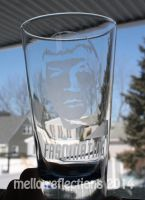 Spock Etched Glass by MelloReflections