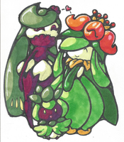 Tsareen X Lilligant 2: Petilsweet! by Broken-Hedgehog