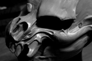 Jersey Devil skull mask WIP by mostlymade