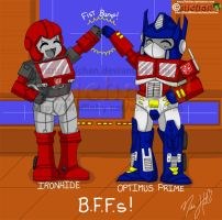 TF BFFs - Ironhide and Prime by nichan