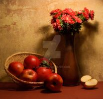 Still life with apples by Jablam