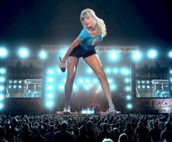 Giant Taylor Swift in Concert by joe116able