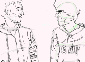 Mark meets Mark. by maybecatie