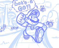 Just Another Mario Doodle by JamesmanTheRegenold