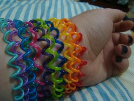 Rainbow Bracelets by hope-is-overrated