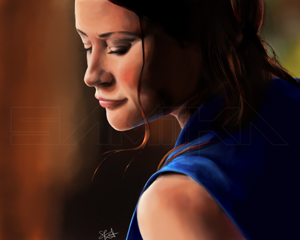 Belle painting - Once Upon a Time by SamiiKA