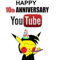 Happy 10th Anniversary Youtube by pikachuandpichu106
