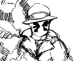 dumb rorschach animation doodle by cnick55