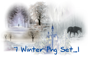 7 Winter Png_Set_1 by JEricaM