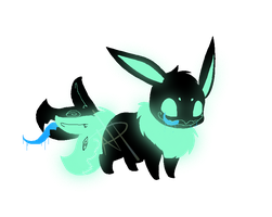 OTA: Garbo the Glow eevee by PudgyPlushie