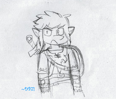 BOTW Link Sketch (fanart) by DragonBlast71
