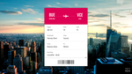 Daily UI #024: Boarding Pass by lukeled