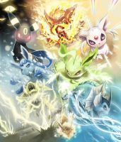 Eeveelutions by JJRocker538