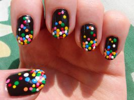 Chocolate sprinkles nails by Lyralein