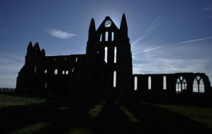 Whitby Abbey Silhouette by astrogoth13