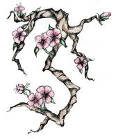 Cherry Blossom Tat by Rabu-Starshine