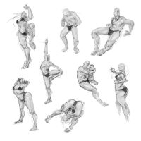 Contorted Poses by art-anti-de